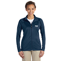Ladies Devon & Jones Stretch Tech Shell Full Zip