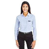 Devon & Jones Ladies CrownLux Performance Micro Windowpane Shirt