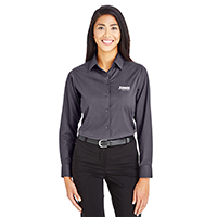 Devon & Jones Ladies Tonal Mini Check CrownLux Performance Shirt
