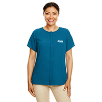 Devon & Jones Ladies Perfect Fit Short-Sleeve Crepe Blouse